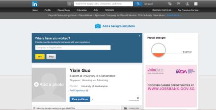 LinkedIn Before